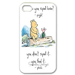 Yo-Lin case IKAI0448301Winnie the pooh For Iphone 4 4S case cover