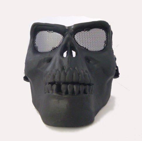 戦慄のスカルマスク メッシュ サバゲー コスプレ 仮装イベント用マスク サバイバルゲーム 骸骨 ドクロ 仮面 アイアムアヒーロー(ブラック)flfl