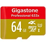 Gigastone Professional 64GB Micro SD Card, 4K Ultra HD, UHS-I U3, High Speed up to 95MB/s, Android, Camera, Canon, Dashcam, DJI, Drone, GoPro, Nikon, Nintendo, Samsung, Tablet, w/ Adapter