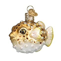 Beach Themed Christmas Ornaments Old World Christmas Fish Collection Glass Blown Ornaments for Christmas Tree Pufferfish beach themed christmas ornaments