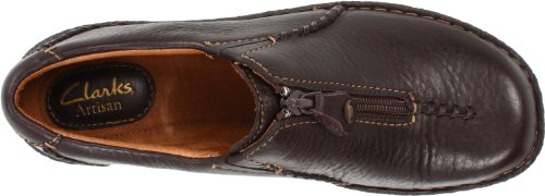 Clarks Inca Meg Slip-on Dark Brown Leather