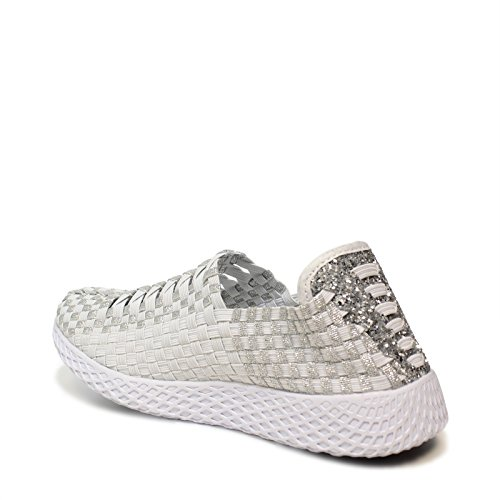 Coin Collection Printemps Silver Woz Up703 Collection Mocassin Nouvelle De Elastic Up703 2018 Moccasin En Argent With New De Élastique Forme Article Woz L'article 2018 Summer À Wedge Spring FFqRES