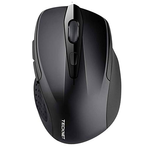 TeckNet 2600DPI Bluetooth Wireless Mouse, 12 Months Battery Life with Battery Indicator, 2600/2000/1600/1200/800DPI (Black)