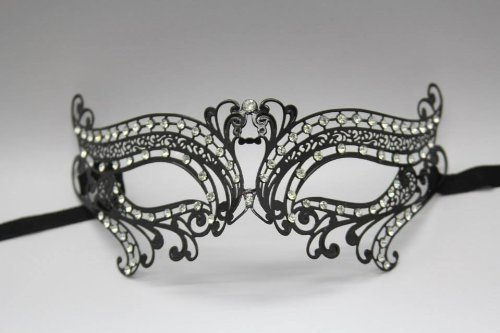New Luxury Collection - His and Her's White Masquerade Mask Set
