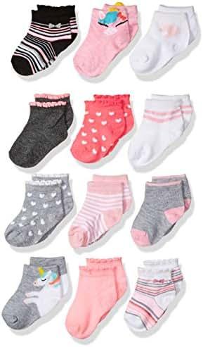 CHEROKEE Girls' Little 12 Pack Shorty Socks