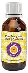 Pure Fenugreek(Methi) Carrier oil 100ml (Trigonella foenumgraecum) 100% Natural Cold pressed
