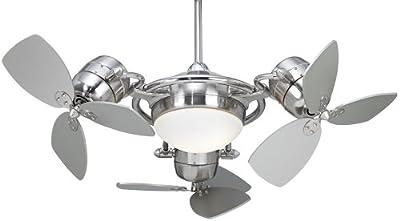 Possini Euro FX3 Ceiling Fan with Silver Blades
