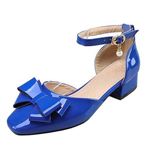 Sandals Blue Women TAOFFEN Ankle Strap qw4wtZv