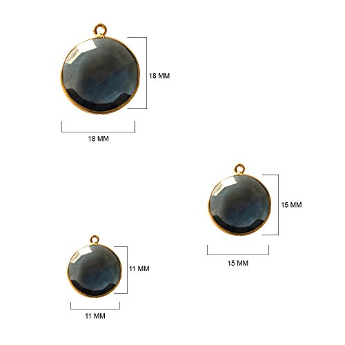 (2 Pcs London Blue Topaz Coin 11mm by BESTINBEADS I London Blue Topaz Stone I London Blue Topaz 11mm Beads I London Blue Topaz Pendant)