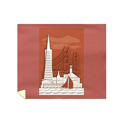 Top Lantern Press San Francisco, California - Shadow Box (88x104 King Microfiber Duvet Cover)