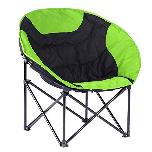 - Asdf Deluxe Sun Moon Chair Outdoor Sun Loungers Super Soft Cotton Fabric Sun Chairs Multicolor Balcony Leisure Folding Chairs (Color : Green)