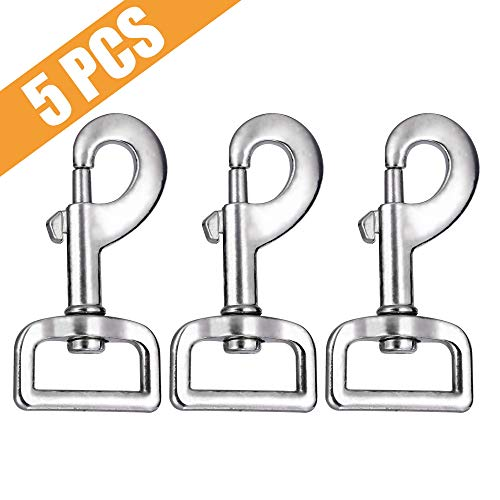 (Swivel Snap Hooks, Lucky Goddness 5pcs Metal Heavy Duty Square Eye Clasp Buckle Trigger Clip Multipurpose- Best for Spring Pet Buckle, Key Chain for Linking Dog Leash Collar, Handmade Crafts Project)