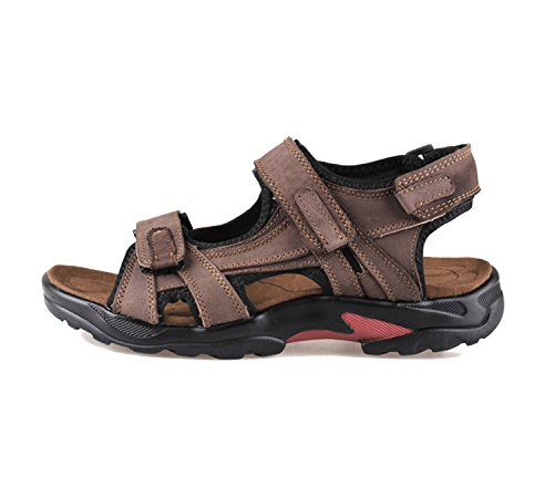 da Sandal trekking traspirante uomo da Pescatore Pakamo Beach uomo brown Outdoor NANXIE da estate Men antiscivolo vera pelle in Casual Sandali Pantofole Scarpe a7qtR