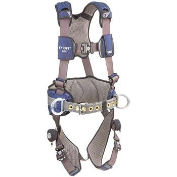 3M DBI-SALA ExoFit NEX Construction Harness, Alum Back/Side D-Rings, Locking Quick Connect Buckles, Large, 1113127