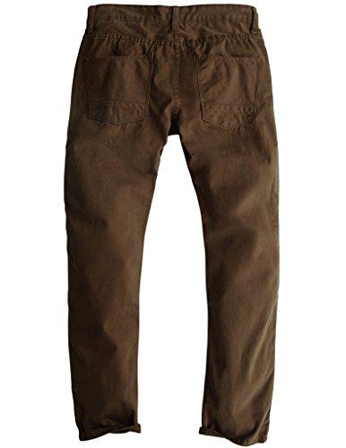 Match Men's Slim Fit Straight Leg Casual Pants(29, 8032 Dark brown)