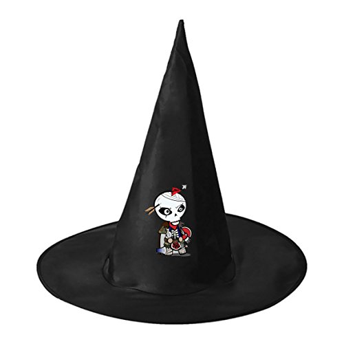 Halloween hat skull Guys Witch Costume Cap for (Kids Spider Costume Face Paint)