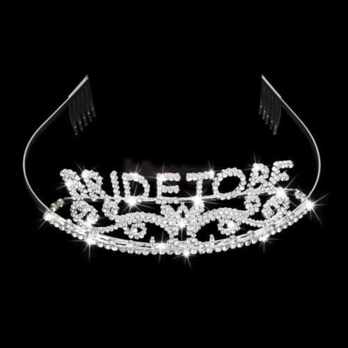 DatConShop(TM) Wedding Bridal Shower Bachelorette Party Crystal BRIDE TO BE Tiara Crown (Bachelorette Crystal)