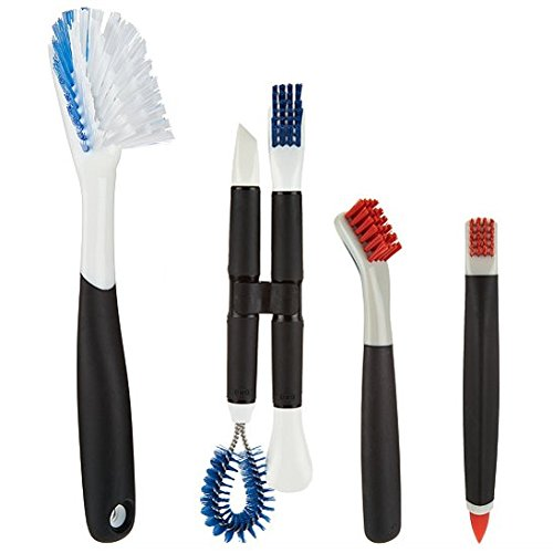 OXO Good Grips 8 Piece Brush & Tool Deep Cleaning Set, Plastic