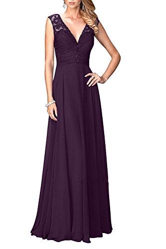 Charmant Ausschnitt Traube Lang Pailletten Festlichkleider mit Spitze Abendkleider Damen Elegant Brautmutterkleider V rqwgqt