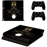 Elton Iron ManTheme Skin Sticker Cover for PS4 Console and Controllers