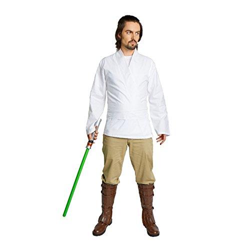 Luke Skywalker Black Costume (Men's Jedi Sith Tunic Costume Adult (XXX-Large, White))