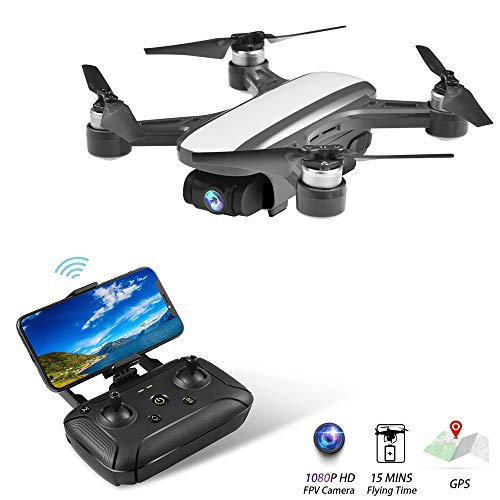 Portable Drone Aircraft – Mini Drones with 1080P HD Camera,2 Axis Stabilized Gimbal,FPV RC Quadcopter for Adults with Brushless Motor,GPS Return Home,Altitude Hold,5G WiFi Transmission