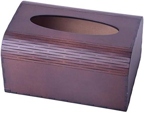 Zxyan ティッシュケース おしゃれ ホルダー ヨーロッパの木製ティッシュボックスベッドルームリビングルームバスルームキッチントレイ おもしろ 卓上 収納 便利 インテリア 家庭事務室に適しています