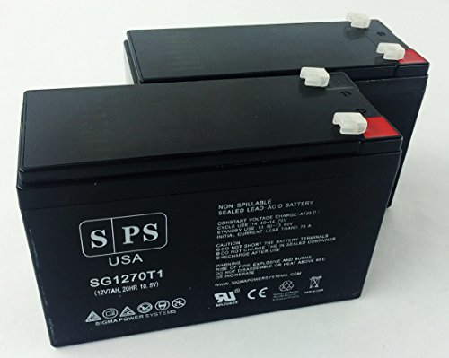 12V 7Ah (From SPS) Gould SP2009 Recorder Medical Replacement Battery (2 Pack)