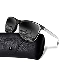 Polarized Sunglasses For Men Women-GOUDI Vintage Men...