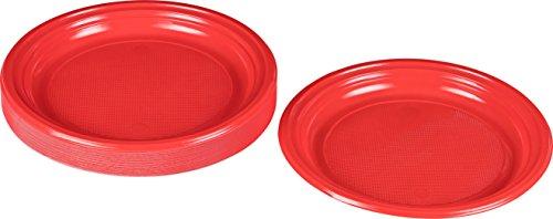 Kigima Einweg Teller Kunststoff rot, 30 Stk, DM 22 cm