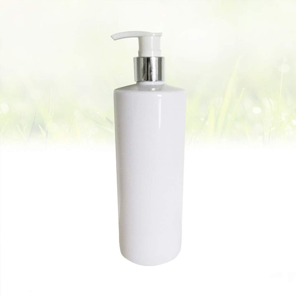 Color Blanco Dispensador de jab/ón vac/ío 3 Unidades 500 ml Botella de loci/ón Simple para champ/ú de Mano de emulsi/ón de Espuma TOPBATHY