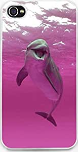 Case For Iphone 4S Dseason, High Quality Fashionable Protector Pink dolphins