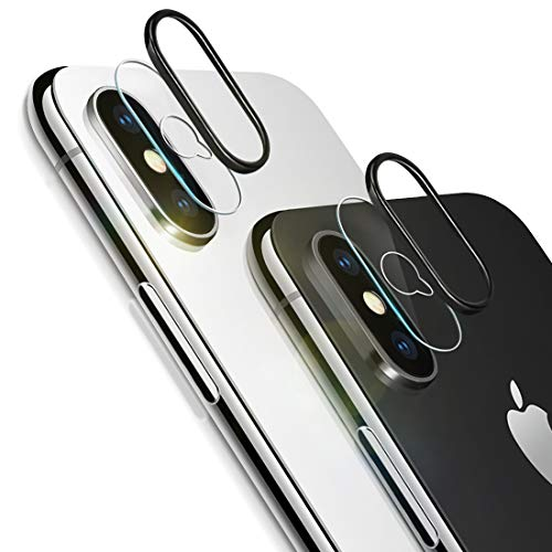 iPhone Xs Max Camera Lens Protector, [2 Pack] Ultra-Thin Anti-Scratch Camera Tempered Glass Screen Protector Film and 2pcs Camera Lens Rings Compatible iPhone Xs Max/XS from Semriver