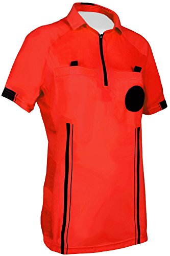 NEW! Women's 2018 Soccer Referee Jersey (Red, Large)