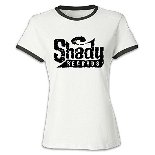 Cotton Album Quilt - Women's Eminem Shady Color Block 100% Cotton T-shirts