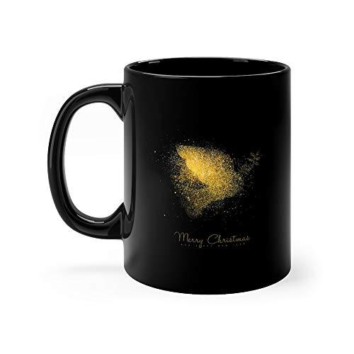 Christmas And New Year Gold Glitter Peace Dove Art Water Mug Ceramic 11oz