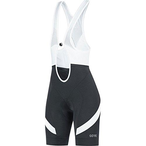 (Gore Wear C5 Women's Bib Shorts, Black/White, Large)