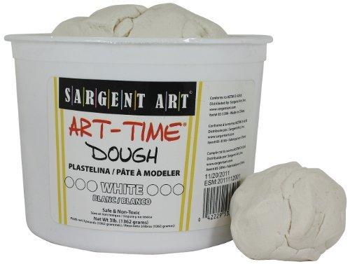 Sargent Art 85-3396 3-Pound Art-Time Dough, White by Sargent Art