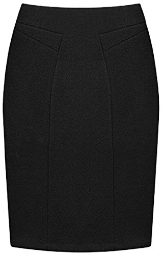 New lovever Women's High Waist Bodycon Wool Blend Pencil Midi Skirts for sale