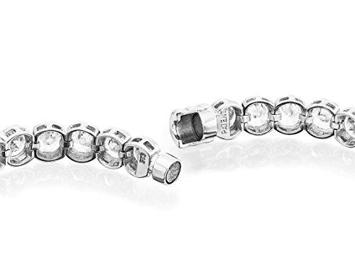 "Luxury Silver-Bracelet Femme (""Bracelet de Tennis), argent 925/de, oxyde de zirconium blanc"