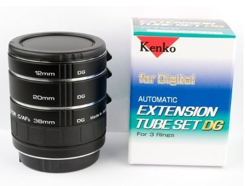 Kenko Extension Tube Set Dg for Nikon Macro Automatic with Trr Protection Bag by Kenko and Trr