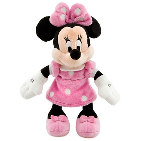 "Disney 8"" Minnie Mouse in Pink Dress Plush"