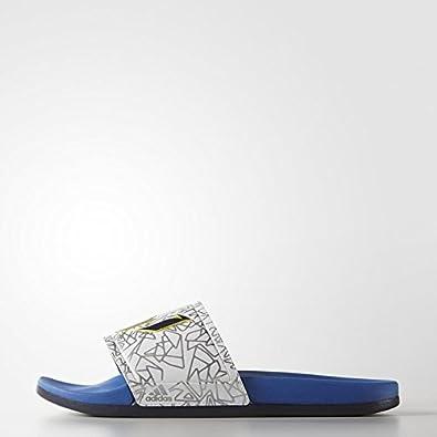 Amazon.com | adidas Performance Men's Adilette Messi Sandals, White/Blue/Midnight  Grey, 12 M US | Sport Sandals & Slides