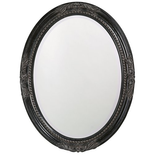 Howard Elliott Queen Ann Mirror, Hanging Beveled Oval Wall Mirror, Antique ()