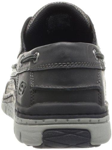 Skechers NorisStern Noris Stern Relax Fit - Zapatillas de cuero para hombre Negro (Schwarz (Blk))
