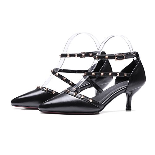 BalaMasa Sandales Compensées Femme - Noir - Noir, 36.5