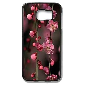 Samsung Galaxy S6 Edge Case - Romantic Cherry 01 Slim Bumper Case with Soft Flexible TPU Material for Samsung Galaxy S6 Edge Black