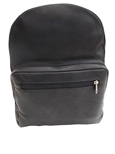Piel Custom Personalized Leather Traditional Leather Backpack in Black