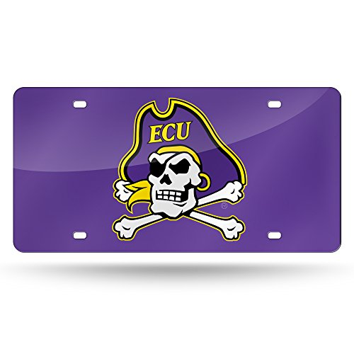 NCAA East Carolina Pirates Laser Inlaid Metal License Plate Tag