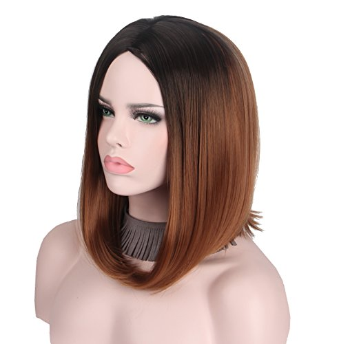 Short Wig Cosplay Synthetic Wigs for Black Women Natural Ombre Bob New Hairstyle Girls